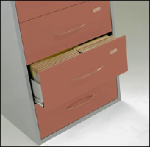 4 Drawer Medical Records Cabinet
