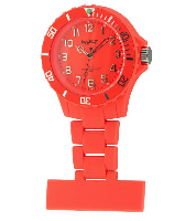 Orange Silicon Fob Watch