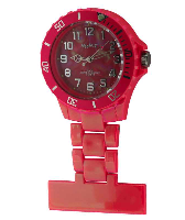Polished Red Silicon Fob Watch