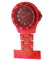 Luminous Orange Fob Watch