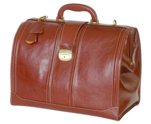 Doctors Traditional Medical Case - Brown Leather