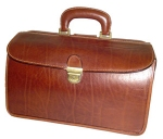 Doctor's Medical Bag - Antique Brown Leather Case