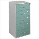 Five Drawer Medical Records Cabinet