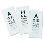 Snellen 3m Plastic Wall Hanging Visual Acuity Eye Test Chart