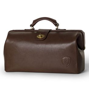 Natural Italian Leather Doctor's Bag - Brown