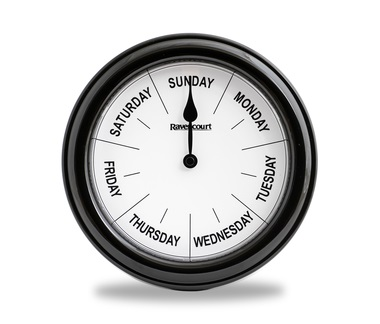 Dementia & Alzheimer Suffers  Wall Clock for Days of the Week