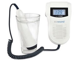 ECOSOUND Fetal Doppler with Display and Water Proof Probe