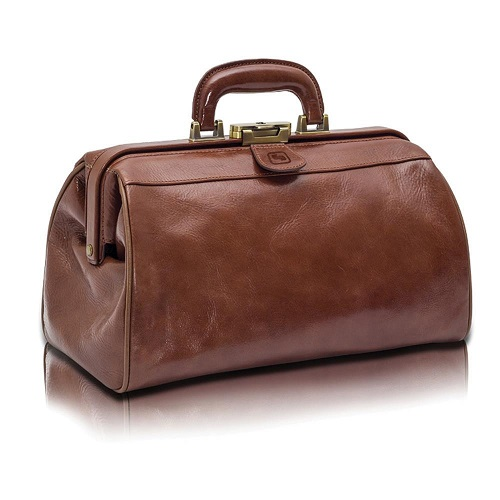 Compact  Traditional Doctors Leather  Bag