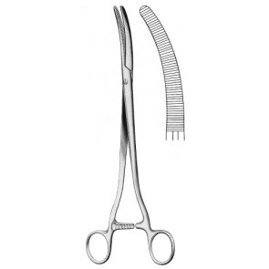 FAURE Hysterectomy Forceps Curved 25 cm