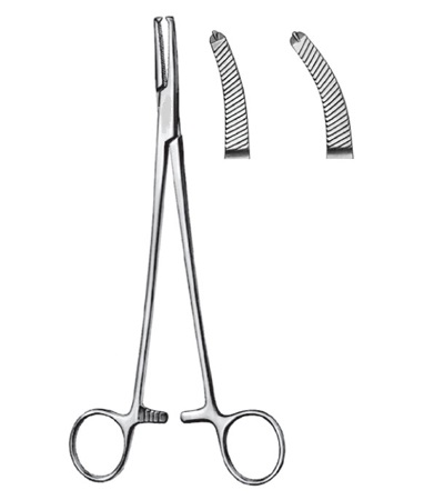 FAURE Peritoneal Forceps 1:2 Teeth Curved 20 cm