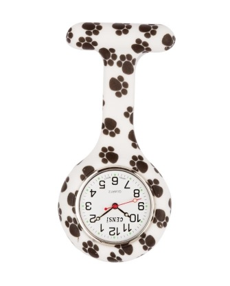 Paw Print Fob Watch