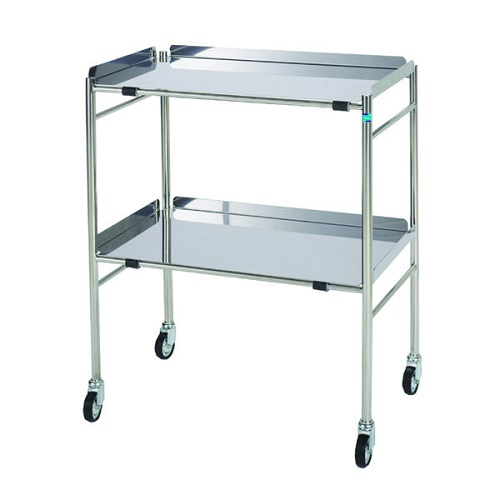 Stainless Steel Surgery Trolley- Removable Shelves