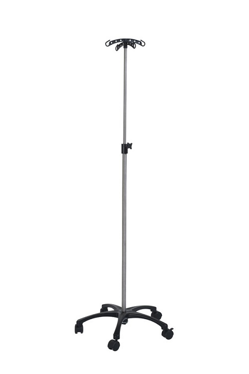 Telescopic IV Stand With Molded Plastic Base