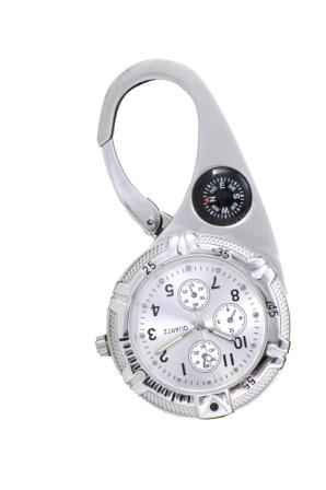 Paramedic Clip Watch in Silver