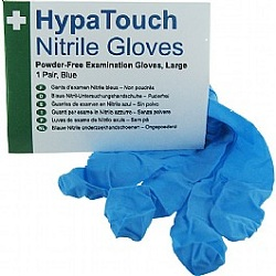 HypaTouch Powder-Free Nitrile Gloves Box of 100