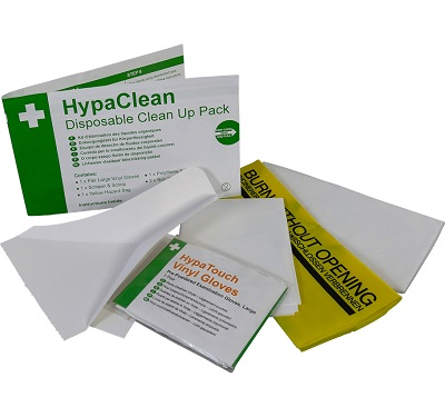HypaClean Disposable Clean Up Pack Box of 10