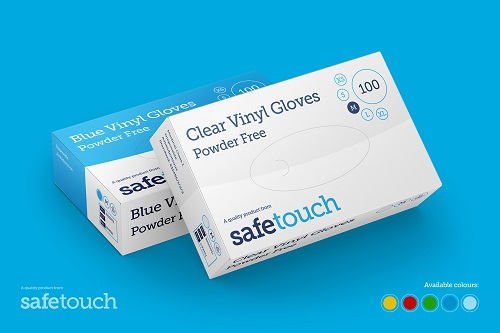 Clear Powder-free Vinyl SafeTouch Gloves Case of 1000