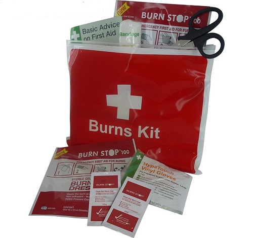 Burn Stop Burns Kit in Vinyl Wallet