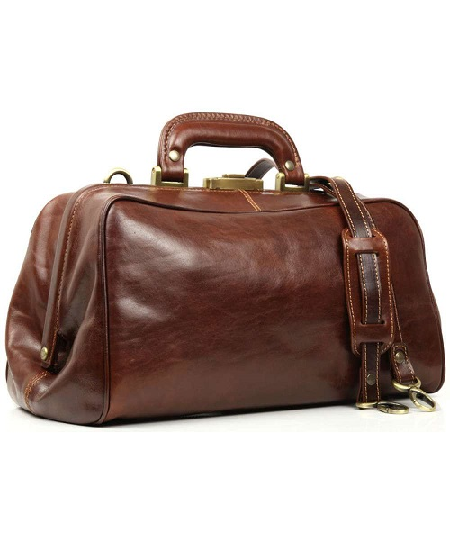 Doctors Bag Vintage Style  in Antique Brown
