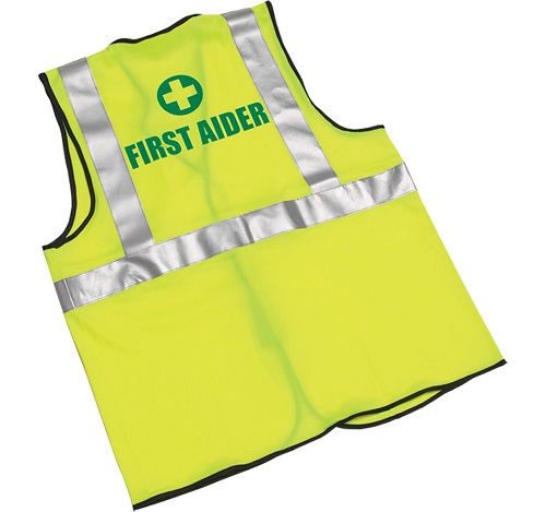Yellow First Aider Hi-Visibility Waistcoats