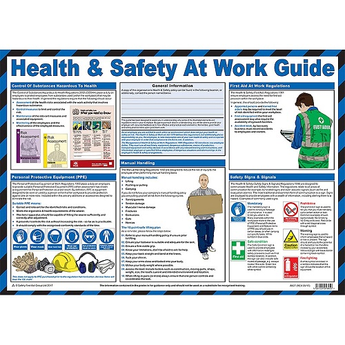 Health And Safety at Work Guidance Poster