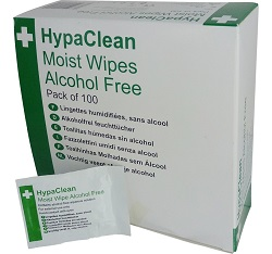 HypaClean Moist Wipes-Wound Cleansing Wipes Pack of 100