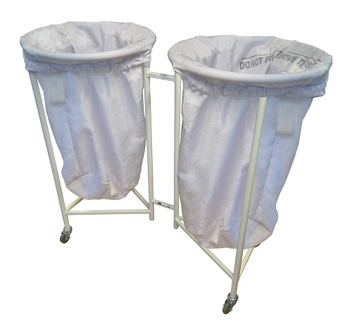 Double Round Top Linen Trolley