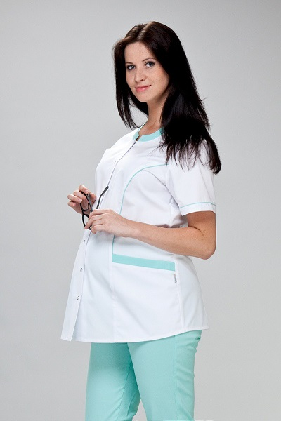 Maternity Scrub Tunic  Short Sleeve