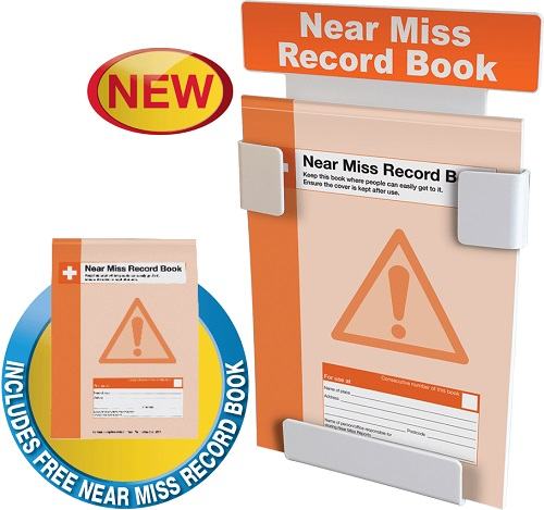Near Miss Record Book Station on a Wall Bracket