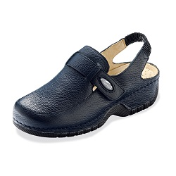 Womens Nursing Shoes in Dark Blue Leather