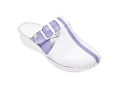 Womens Stylish Nursing shoes in White and Purple