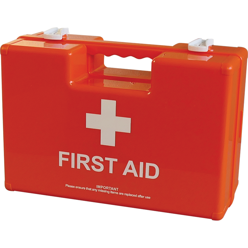 Deluxe shatterproof ABS First Aid Case in  Orange