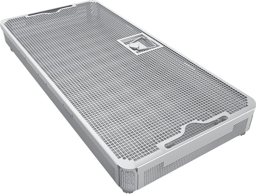 Perforated Surgical Instrument Trays with Lid and Bottom Feet