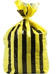 Tiger Stripe Polythene Offensive Waste Bags Roll of 500 Bags