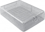 Fine Mesh Wire Surgical  Instrument Basket and Lid