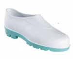 Surgeons Waterproof White Clog with Green Sole