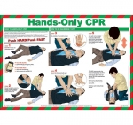 Hands-Only CPR Resuscitation Poster