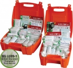 British Standard Compliant Workplace First Aid Kit Orange Case