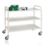 Fully Welded 3 Tier Medical  Trolley 1060 mm Long