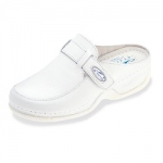 Womens Nursing Clogs In White Leather