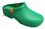 Washable Unisex Theatre Clogs in Green