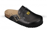 ESD Nursing Clogs in Black Leather
