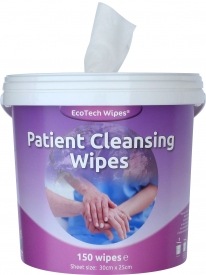 Patient Wet Cleansing Wipes Tube of 150 Wipes