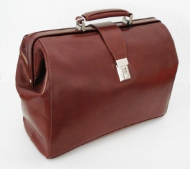 Doctors Handcrafted Leather Laptop Bag