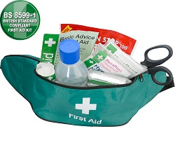 Travel First Aid Kit in Bum Bag British Standard Compliant